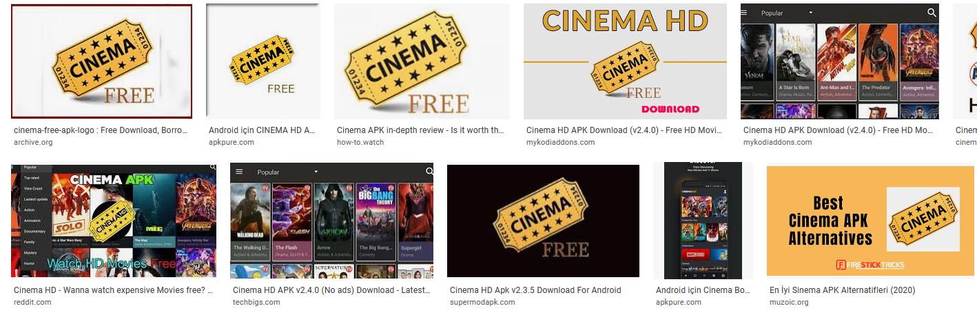 cinema free apk